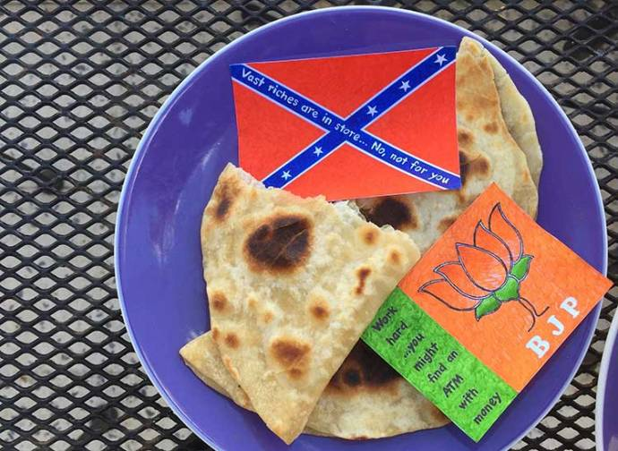 One Pound Capitalism, a Pinch of Democracy, and Misfortune Stuffed Chapatis./ By Priti Gulati Cox