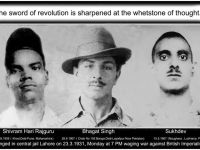 On 86th Martyrdom Day Of Bhagat Singh, Rajguru & Sukhdev: British Rulers Hanged Them Once, Indian Rulers Hang Them Everyday!