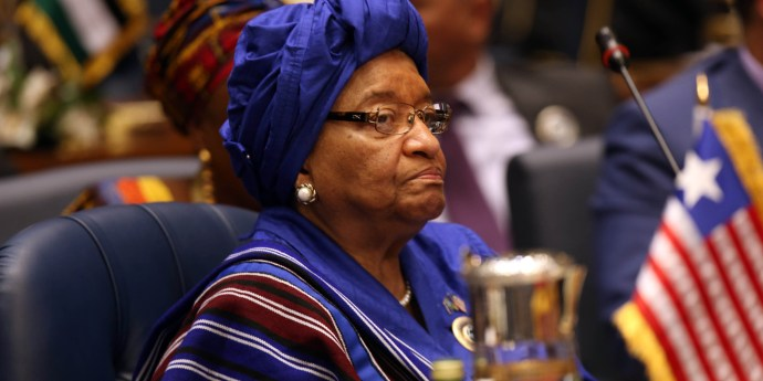Liberian President Ellen Johnson Sirleaf attends an Arab and African leaders summit meeting in Kuwait city on November 19, 2013. The summit aims at reviewing steps to promote economic ties between wealthy Gulf states and investment-thirsty Africa. AFP PHOTO/YASSER AL-ZAYYAT        (Photo credit should read YASSER AL-ZAYYAT/AFP/Getty Images)
