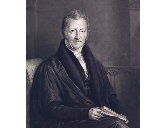 thomas malthus. first essay on population 1798 Thomas robert malthus was the first economist to propose a systematic theory of population he articulated his views regarding population in his famous book, essay on the principle of population (1798), for which he collected empirical data to support his thesis malthus had the second edition of his book.