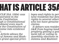 Scrapping Of Article 35A – Part Of An Agenda