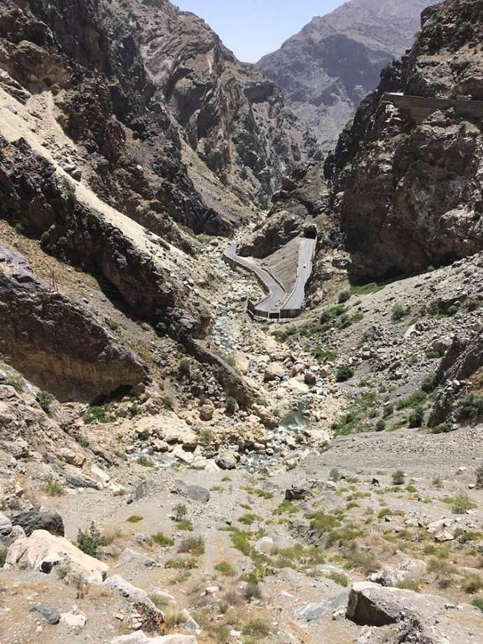 Deep ravines of Afghanistan