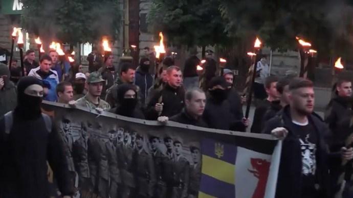 Neo-Nazis March in Ukraine