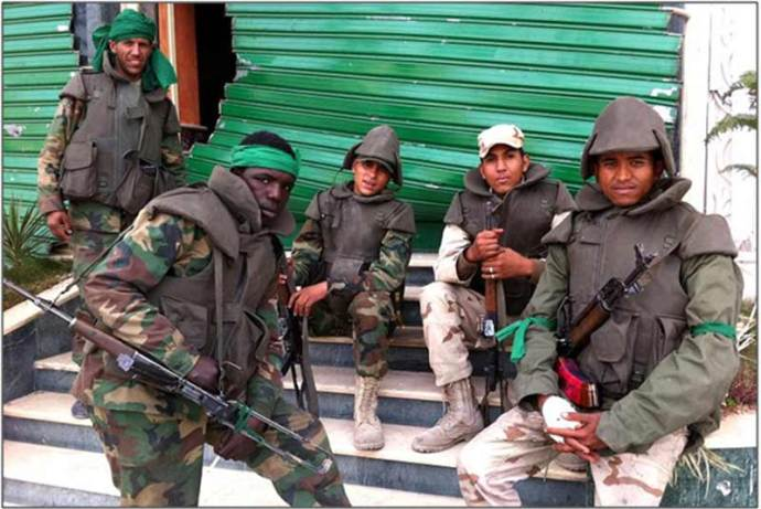 Heroes: the millions of armed Libyan men and women who stepped up to defend their Revolution