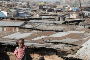Tiny and scared in Matare slum