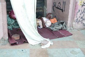 homeless at Tahrir Square in Cairo