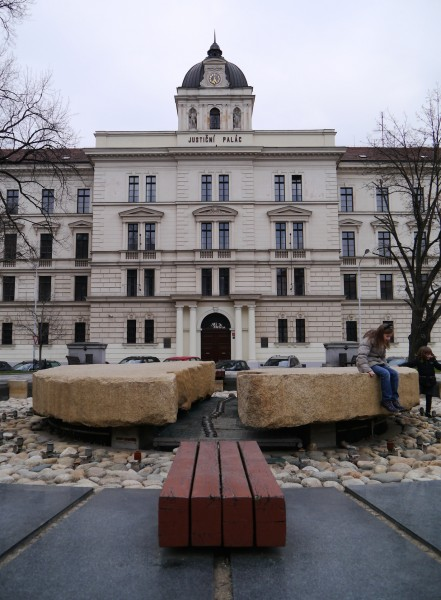 Palace of Justice. In front used to stand Soviet tank, part of the monument to 1945 liberation from Nazis