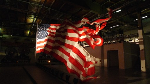 horrific, carnivorous flag at MOCA