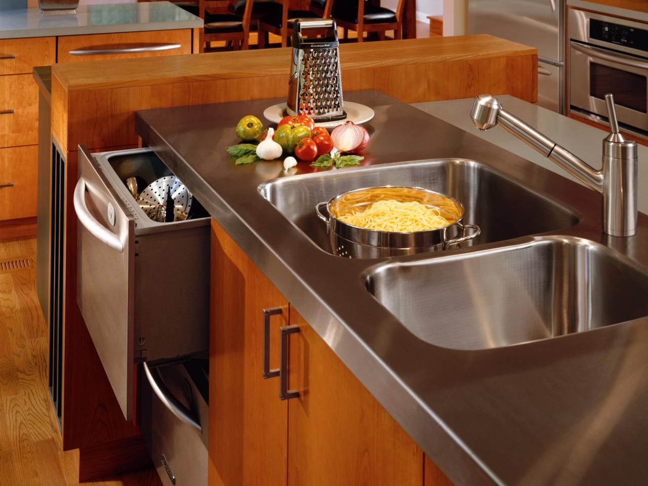 houzz sink other transitional stainless steel integrated countertops in countertop an with of cost photo kitchen