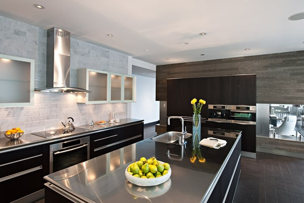 Stainless Steel Countertops | CounterTop GuidesCounterTop ... on Modern:0Bjn4Cem9Be= Kitchen Counter  id=50312