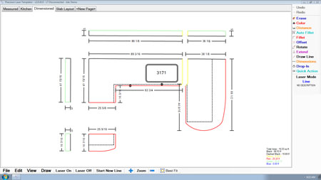 Laser products updates countertop templator software laser products released the 2nd version of its lt 55 xl laser templators software various changes and additions have been made including dwg and ord maxwellsz