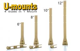 "The hands-free ""U-mount"" undermount sink support"