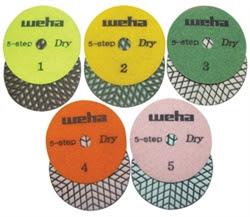 WEHA dry polishing pads