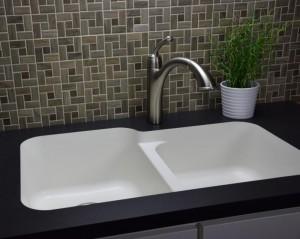 karran white quartz sink