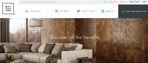 Whytile.com's home page