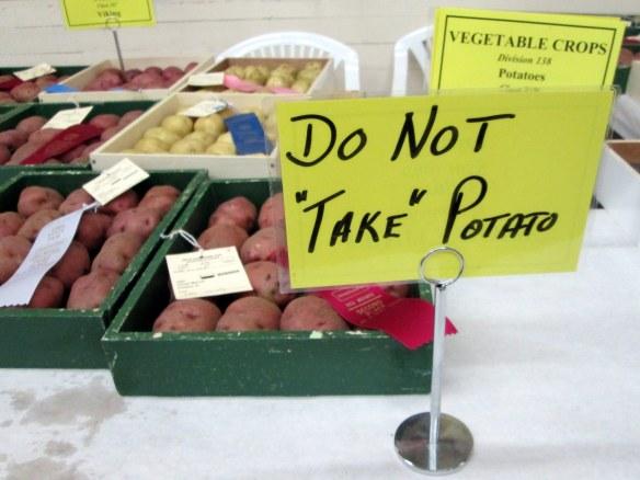 Don't take the potato