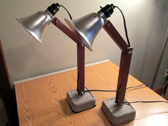 Handmade industrial desk lamps