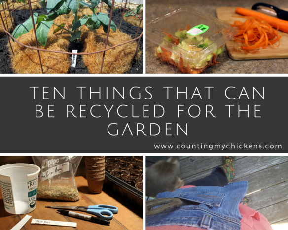 things that can be recycled for the garden