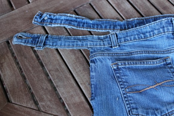 recycling an old pair of jeans