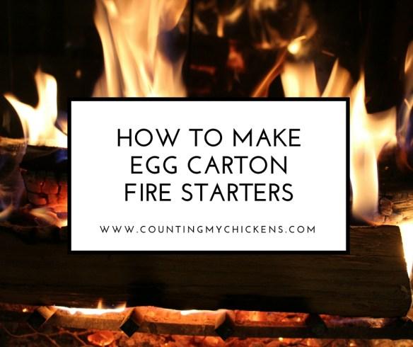 How to make egg carton fire starters