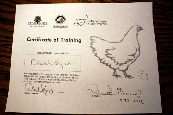 Backyard chicken training requirements