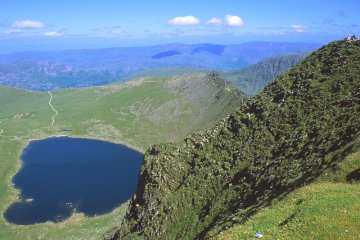 Lake District Helvellyn mountain walk