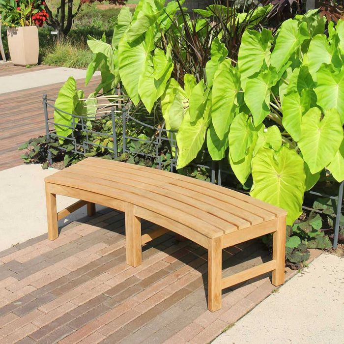 circa 10 ft radius curved backless bench