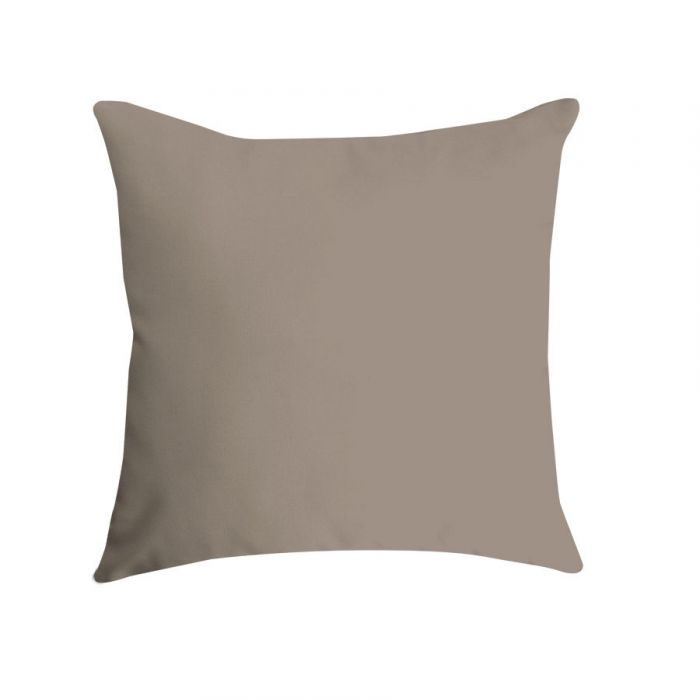 pillow 16 in square in canvas taupe