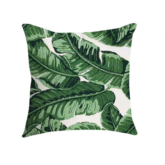 pillow 16 in square in palm leaf