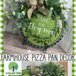 Dollar Tree Farmhouse Pizza Pan Craft Country Charm By Tracy