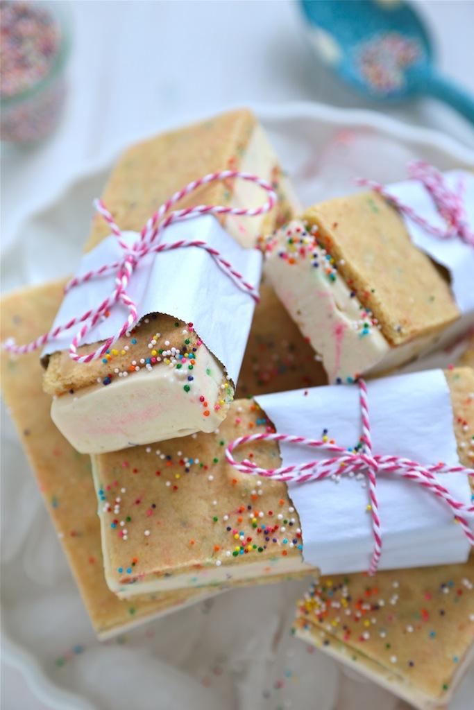 Homemade Birthday Cake Ice Cream Sandwiches Country Cleaver