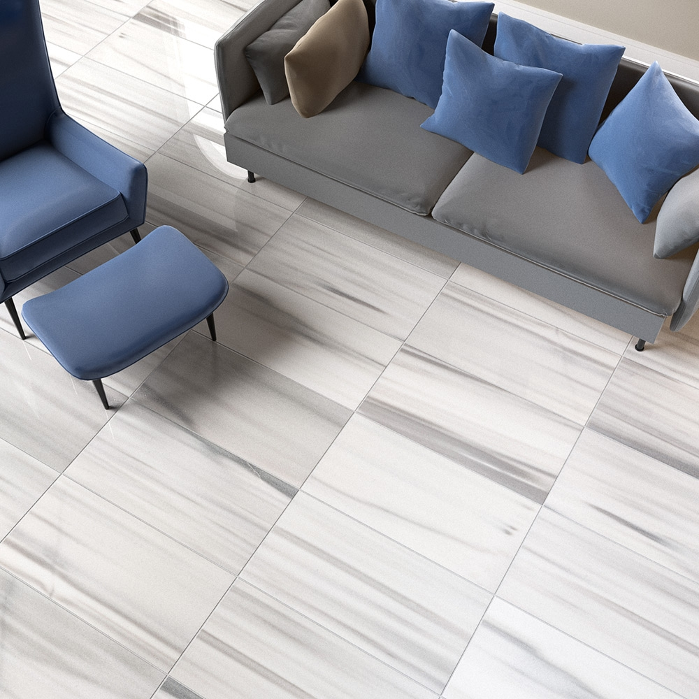 frost white polished marble tiles 18x36