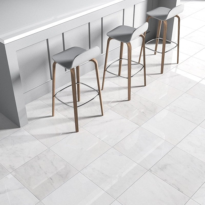 avalon polished marble tiles 18x18