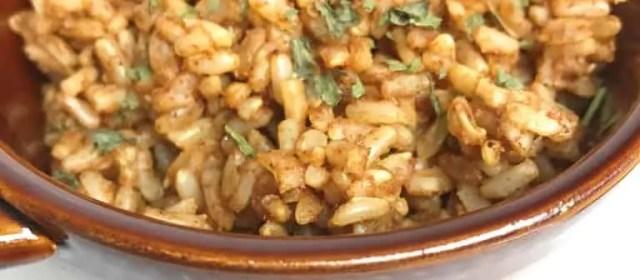 Instant Pot Spanish Brown Rice {THM-E}