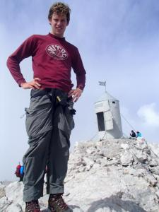 Matthew on the summit in 2014