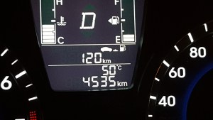 50C on my car thermometer parked in the shade!