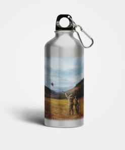 Country Images Aluminium Reusable Water Bottle Metal Clay Pigeon Shooting Hunting Sport Sporting Sports Gifts Gift