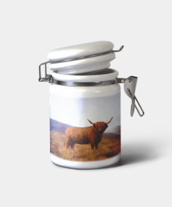 Country Images Personalised Custom Ceramic Hinged Storage Jars Highland Collection Highland Cow Gifts