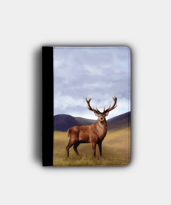 Country Images Personalised Custom Customised Flip iPad Cover Case Scotland Scottish Highlands Stag Stags Deer Buck Bucks Gift Gifts
