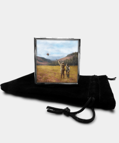 Country Images Personalised Custom Metal Pill Boxes Box Scotland Highlands Clay Pigeon Shooting Gift Gifts