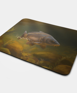Country Images Personalised Fabric Custom Customised Mousemat Cheap Scotland UK Mirror Carp Fishing Fish Angler Angling Gift Gifts Ideas