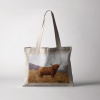 Country Images Personalised Highland Collection Scottish Highland Cow Cheap Tote Bag Scotland UK