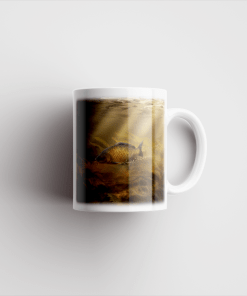 Country Images Personalised Printed Common Carp Fishing Angling Gift Scotland Design Cheap Mug - 2