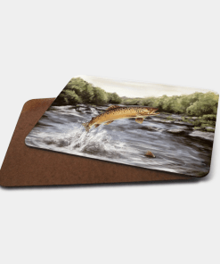 Country Images Personalised Printed Custom Placemats Tablemats Cheap Highland Collection Leaping Brown Trout Scotland Scottish Gift Gifts Ideas Tableware