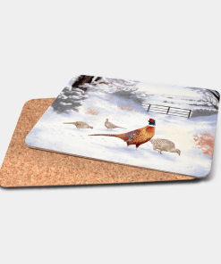 Country Images Personalised Printed Custom Placemats Tablemats Cheap Highland Collection Pheasant Pheasants Scotland Scottish Gift Gifts Ideas Tableware (Cork)