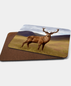 Country Images Personalised Printed Custom Placemats Tablemats Cheap Highland Collection Stag Stags Deer Scotland Scottish Gift Gifts Ideas Tableware (Board)