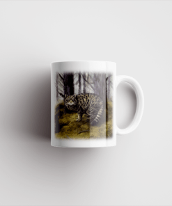 Country Images Personalised Printed Highland Collection Wild Cat Scotland Design Cheap Mug - 2