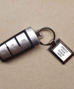 Blank Rectangular Keyring Gift - Ready to Personalise
