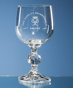 "Engraved ""Claudia"" White Wine Glass"