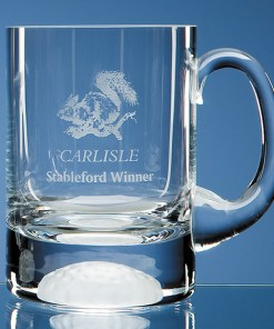 Engraved Handmade Golf Ball Base Tankard